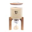 Picture of Glass storage container 9 kg with Acacia wood