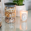 Picture of Three Stackable glass jar with Black bamboo lid
