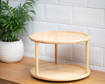 Picture of Two Tiered Round Stand - Natural Wood
