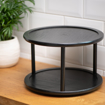 Picture of Two Tiered Round Stand - Black