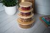 صورة حافظة طعام دائرية بغطاء خشب البامبو - الحجم الكبير