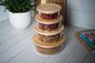 صورة حافظة طعام دائرية بغطاء خشب البامبو - الحجم الصغير