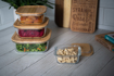 صورة  حافظة طعام مربعة بغطاء خشب البامبو - حجم صغير جدا