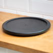 Picture of Rotary single layer wooden plate - Black