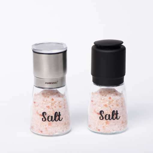 Picture of Set of two spice Grinder Ceramic 170 ml Glass Bottle