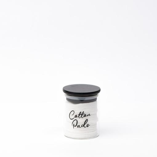 صورة جرة زجاجية ١٠٠ ملي بغطاء أسود ( ٥.٥ * ٦ سانتي )