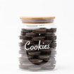 Picture of Airtight Glass Jar -  Natural Wood Lid 2 L