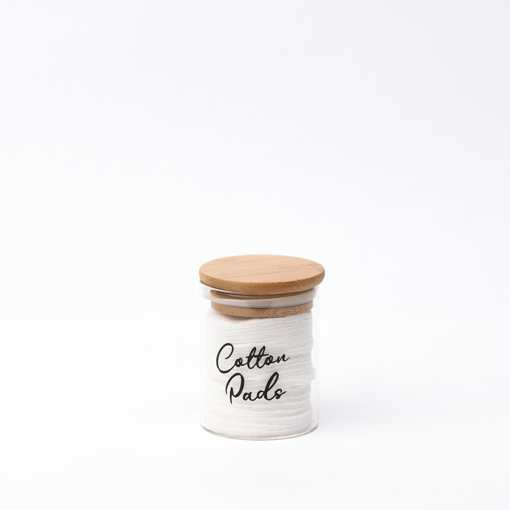Picture of Airtight glass jar 200 ml - Natural Wood