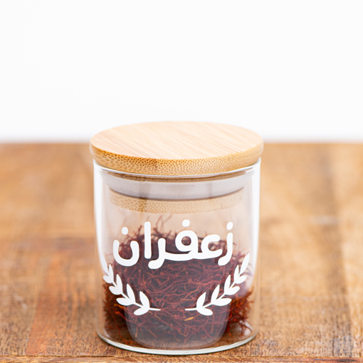 Picture of Airtight Glass jar  100 ml - Natural Wood