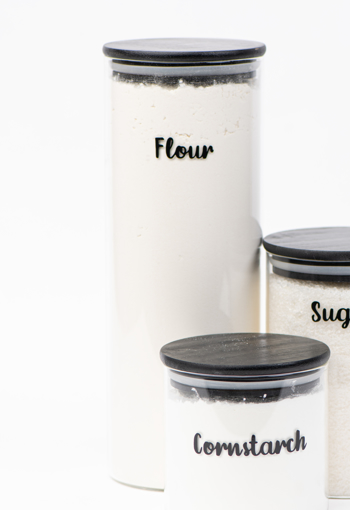 Picture of Airtight Glass jar   ( 10 * 30 ) - Black Lid