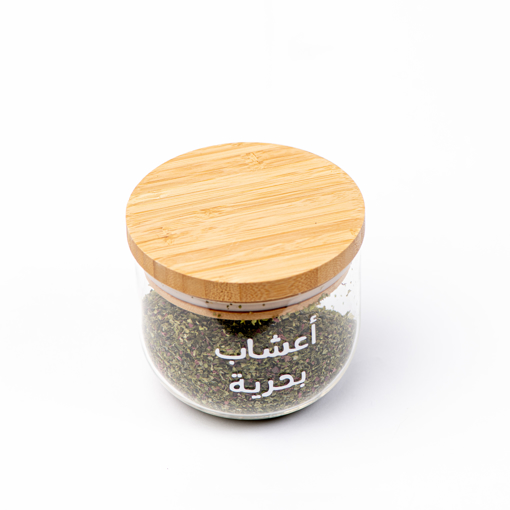 Picture of Large Curved Airtight Jar - Bamboo lid