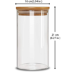 Picture of Airtight Glass jar   ( 10 * 21 ) - Natural Bamboo Lid