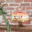 Picture of Cake Stand - Amazon Acacia wood with glass dome