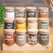 Picture of Three Tier Stand 12 Jars 200 ml Set - Natural Bambo