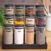 Picture of Three Tier Stand 12 Jars 300 ml Set - Black