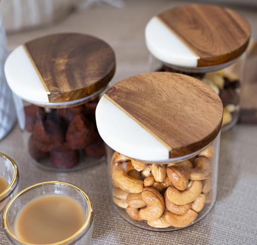 Picture of Alabaster Marble Jars - Set of 3