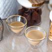 صورة   طقم الشاي والقهوة من الرخام الطبيعي - ٦ قطع - مع الصينية
