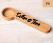 صورة مغرفة قهوة خشبية